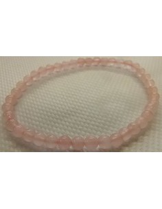 Bracelet quartz rose 4mm