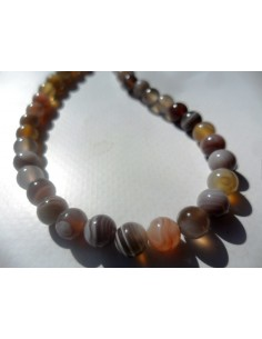 Agate grise collier
