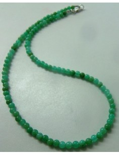 Chrysoprase 4mm collier