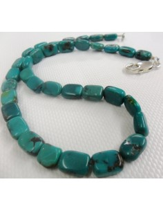 Collier turquoise, argent