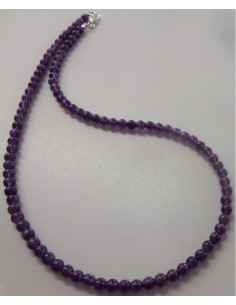 Collier en Amethyste 5mm