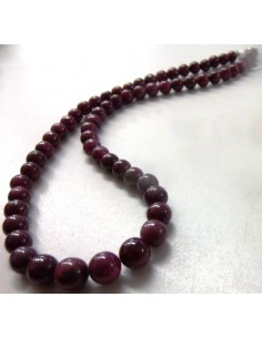 Collier Rubis boule 7 à 8mm