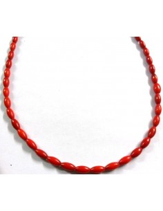 Corail rouge 9mm collier
