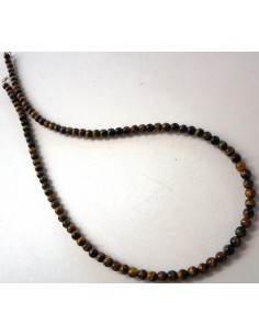Collier Oeil de tigre 4mm