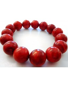 Bracelet corail rouge 13mm
