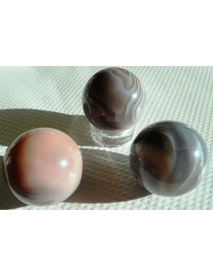 Agate Botswanna rose sphere 20mm