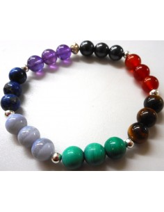 Bracelet sept chakras8mm