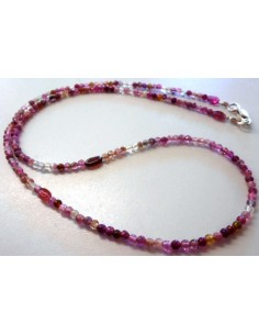 Tourmaline rose collier 3mm