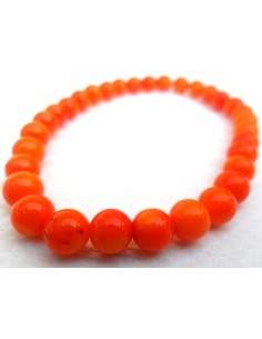 Bracelet en corail orange 5mm