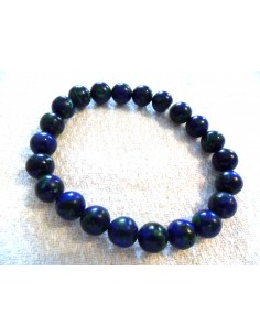 Azurite malachite bracelet 6mm