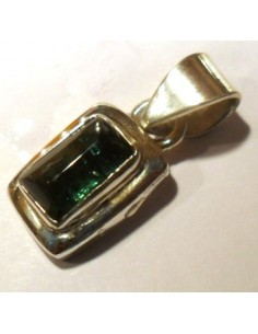 Verdelite, Tourmaline verte pendentif argent