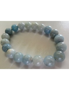 Topaze blue bracelet 8mm