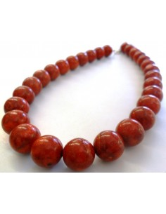 Collier Corail rouge 15mm