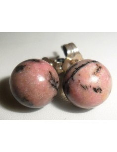 Rhodonite boucles 8mm