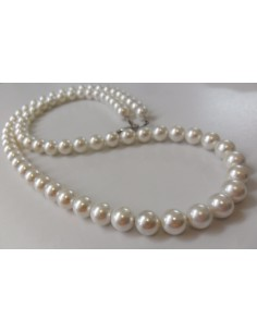 Perles blanches 8mm collier