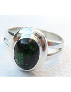 Tourmaline verte, verdelite bague argent