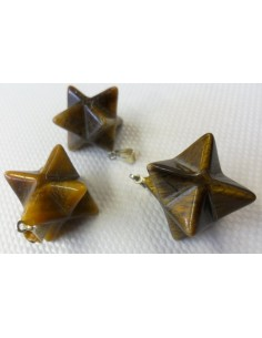 Merkaba en quartz rose pedentif