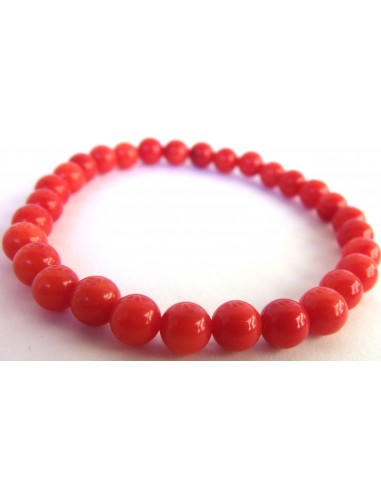 Corail rouge bracelet 6mm