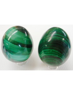 Malachite oeuf 38mm
