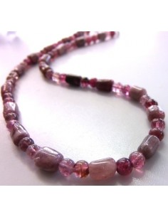 Tourmaline rose collier