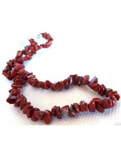 Jaspe rouge en collier baroque