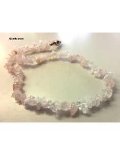 Quartz rose collier baroque