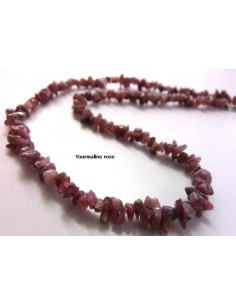 Tourmaline rose collier baroque