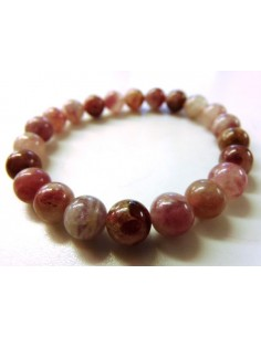 Tourmaline rose,rouge 8mm bracelet