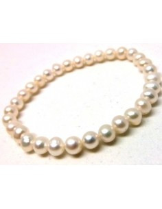 Perles blanches bracelet 5mm