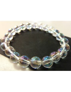 Aqua aura angel bracelet 6mm
