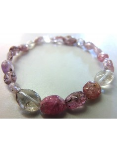 Spinelle rouge bracelet 7mm