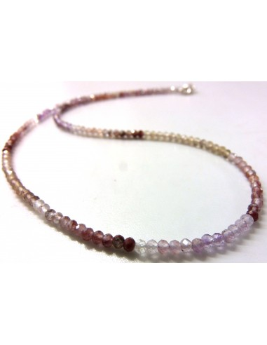 Spinelle rose collier 3mm