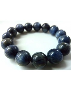 Cyanite bleue bracelet 12mm