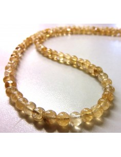 Citrine 5mm collier