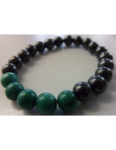 Magnetite, malachite 8mm Bracelet