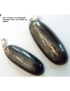 Labradorite purple, Hypersthene pendentif