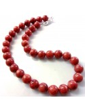 Collier Corail rouge 11,5mm