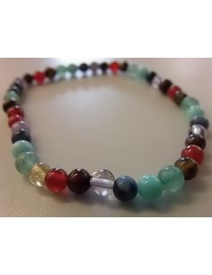 bracelet 4mm sept chakras