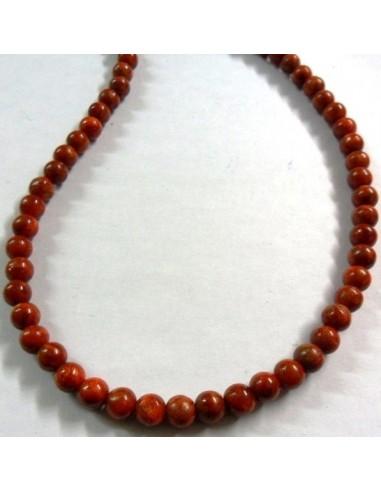 Corail rouge collier 6mm