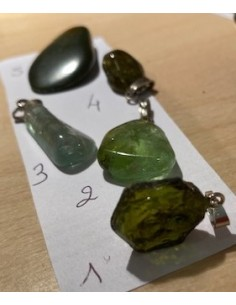 Verdelite, Tourmaline verte pendentif
