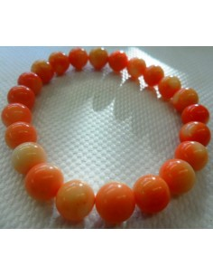 Bracelet en corail orange 8mm