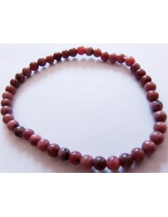 Bracelet en rhodonite boules 4mm