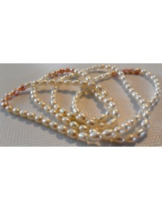 Perles blanches Tahiti collier