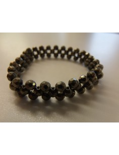 Pyrite facettés bracelet 4mm